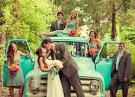 Wedding photo idea. Old cars/trucks/tractors are always good for these photos.