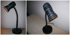 A camera lens I made into a desk lamp. (one of my favorite creations)