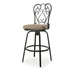 Magnolia II Brown Aluminum Frame and Khaki Sesame Linen Sunbrella Fabric Seat 26-inches Swivel Count (26 counter height, Autumn Rust/Sesame Linen)