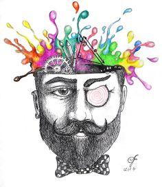 Subconscious Mind  .  .  #alperfiratli #weekly #article #drawing #crosshatch #sketch #pencildrawing #pencil #dream #subconscious #subconsciousmind #colorful #engraving #pastel #sketch #crosshatch #hatch