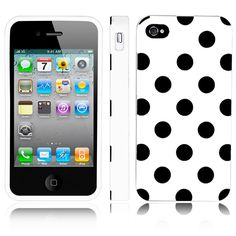 iPhone 4 Case, MagicMobile Ultra Thin Cute Slim TPU Rubber Gel Polka Dot [SLIM-FIT] Case Cover for iPhone 4 / 4S [ White - Black ]. The Magic Mobile for Apple iPhone 4 4s Polka Dot Case provides full protection in the back and sides of the phone. Product made with special TPU material which cannot be broken when twisted. Really easy and fast to insert the phone; has perfect holes for the charger, the headphones and the camera. Product is made of high quality keeping the phone safe and…