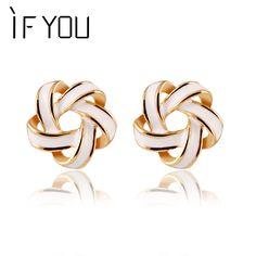 Fashion 3 color Flower Cross Stud Earrings Delicate Elegant Charm Hollow Fine Jewelry Earrings For Women Accessory brincos PT31