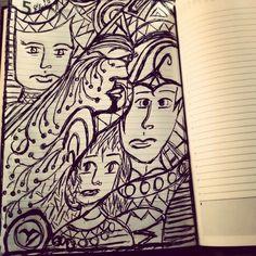 Desenhos com caneta Bic.