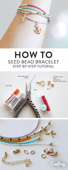 Follow this quick photo tutorial on how to make seed bead bracelets and create a whole stack to layer (or gift!) in less than an hour.