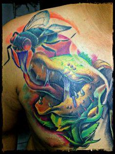 #tattoo #tattoos #tattooart #tattooartist #tattooartwork #tatuaje #tatuajes #tatuagem #newschool #newschooltattoos #comictattoos #carnivoreplant #fly #fullcolor #colortattoos #customtattoos #tattooed #wildlife #inked #ink #cancadaver #bonitocadaver #boniccadavertattoo #calella #maresme #barcelona #km666