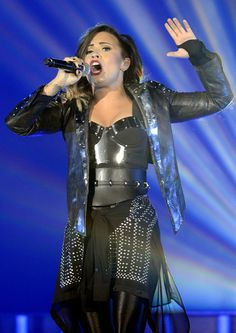 Demi Lovato performing in Denver, Colorado on the DEMI World Tour- Sept. 25
