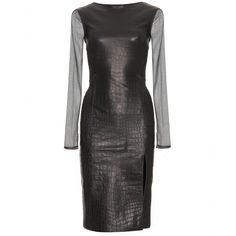 LEATHER DRESS WITH CUT OUT DETAIL seen @ www.mytheresa.com