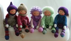 """Waldorf knitted dolls 13"""" by Peperuda dolls 