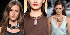 Raw Stones.  Love this trend 2015 big and raw stones cut for fashion accessories....so elegant and chic.