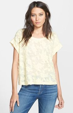 Ella+Moss+'Donna'+Burnout+Top+available+at+#Nordstrom