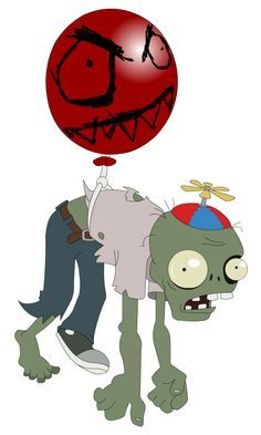 Balloon Zombie floats above the fray. Immune to most attacks.