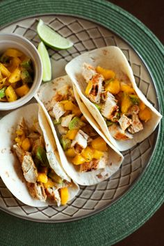 Chicken Mango Tacos | One can never have too many taco recipes. Clean tortillas, sea or kosher salt.
