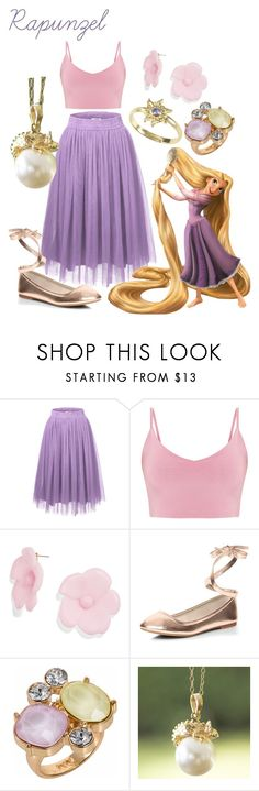 """""""Rapunzel"""" by princessestrada ❤ liked on Polyvore featuring Disney, BaubleBar, Dorothy Perkins, Nadia Minkoff and NOVICA"""