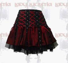 Goth: Lady Lucretia Mini Corset D Ring Skirt.