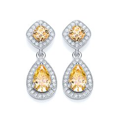 BOUTON pear drop yellow earrings