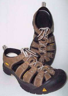 KEEN Sandal Sport Waterproof Newport Brown Tan Leather SZ 7.5 Outdoor Hiking Men #KEEN #SportSandals