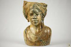 Butter Jade Bust Sculpture - TM Gidi (Zimbabwe) Jade Stone, Wooden Art, Zimbabwe, Lion Sculpture, Arts And Crafts, Butter, Statue, Ebay, Wood Art