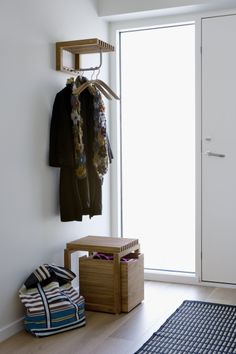 The Cutter Mini Wardrobe in teak, is a stylistically pure little shelf that, despite its modest size, incorporates a hanger rail, four hooks and a hat shelf. Bench With Storage, Tall Cabinet Storage, Hallway Seating, Hat Shelf, Wooden Coat Hangers, Wardrobe Furniture, Office Furniture, Wooden Staircases, Interiors