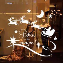 Vente chaude De Mode De Noël Diy Amovible PVC Joyeux Noël Mur Fenêtre Autocollant Decal Décorations pour La Maison(China (Mainland))