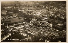 Richmond from the Air # 403 by Airco. Richmond Upon Thames, Surrey, Paris Skyline, Postcards, Virginia, City Photo, British, Travel, Outdoor