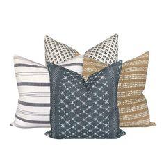 Linen Cloth Curated Collection Birch // Mobby Modern Pillow Covers, Modern Pillows, 20x20 Pillow Covers, Decorative Pillow Covers, Pillow Set, Black Pillows, Boho Pillows, Throw Pillows, Tela