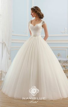 Ball Gown Long V-Neck Short-Sleeve Backless Tulle Dress With Beading, Kleider Hochzeit, Beaded Wedding Gowns, Backless Wedding, Wedding Dress Trends, Princess Wedding Dresses, Modest Wedding Dresses, Boho Wedding Dress, Designer Wedding Dresses, Bridal Dresses, Gown Wedding