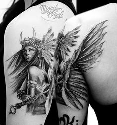Isis Egyptian Goddess tattoo
