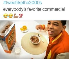 Reeses puffs, Reeses puffs, peanut butter, chocolate, great when separate but when they combine they make the mornin time epic (mornin time epic) R double E- S-E-S yes! P to the U double F-S yes! Right In The Childhood, My Childhood Memories, Funny Relatable Memes, Funny Posts, 90s Kids, The Good Old Days, The Funny, I Laughed, Reese's Puffs