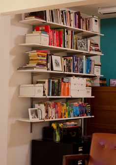 Amy and Christian's Newlywed Home // Bookshelves
