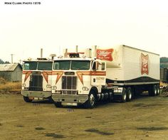 Freightliners - you can come pretty close to estimating model year by looking at door handle placement, handle placement up high disappeared in the early 70s on many trucks moved lower to paddle style handles. Also the Freightliner emblem, White marketing agreement was dropped sometime in the early 70s.