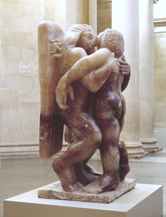Jacob and the Angel by Jacob Epstein. I saw it last year in the Foyer of the Tate Liverpool.