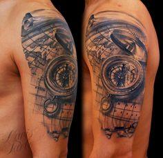 map tattoo sleeve - Hledat Googlem
