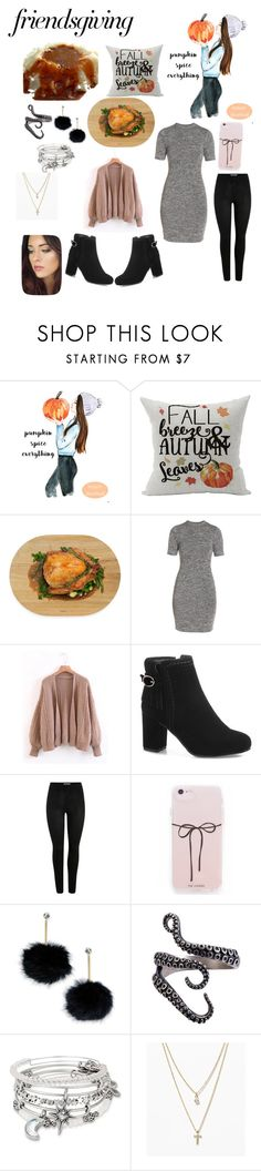 """Friendsgiving"" by banksme ❤ liked on Polyvore featuring Architec, French Connection, Kate Spade, Alex and Ani and LOFT"