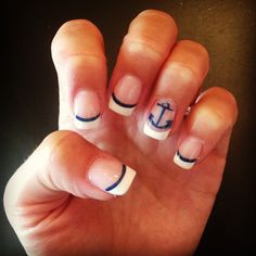 My nautical nails