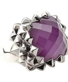 Stephen Webster Superstud Small Square Ring #accessories  #jewelry  #rings  https://www.heeyy.com/suggests/stephen-webster-superstud-small-square-ring-rhodium-purple-sugelite-quartz/