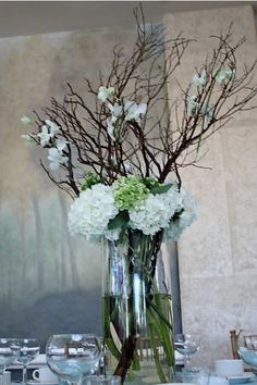 Silk Wedding Flowers Tall Wedding by PetalsFloralBoutique on Etsy, $90.00