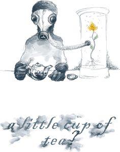 """Wzór ,,apokaliptyczna herbatka"""", zobacz koniecznie jak wygląda na koszulce. Apocalyptic tea, see how it looks on a shirt :)"""