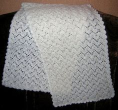 Click to view pattern for - Crochet white scarf