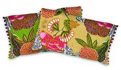 Handmade Expressions cotton cushion fair trade