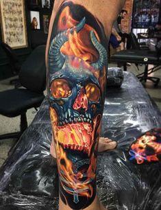 101 Badass Tattoos For Men - DIY Tattoo dauerhaft Tattoos 3d, Skull Sleeve Tattoos, Flame Tattoos, Best Sleeve Tattoos, Trendy Tattoos, Body Art Tattoos, Crazy Tattoos, Celtic Tattoos, Viking Tattoos