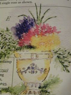 Tall grass. Sold separately are the pot,other flowers &  vine . Made by Art Impressions. All can be found in my ebay store & Can be purchased there.  Pat's Rubber Stamps & Scrapbooks, click on the picture to see it, or call me 423-357-4334 with order, or come by 1327 Glenmar Ave. Mt Carmel, TN 37645, Pat's Rubber Stamps & Scrapbook supplies 423-357-4334. We take PayPal. You get free shipping with the phone orders of $30.00 or more. Use my search engine to find them