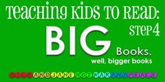 The big last step in teaching kids to read...
