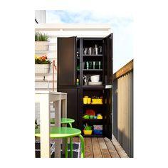 JOSEF Cabinet, indoor/outdoor - dark gray - IKEA