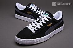 679b26a0989 Puma Basket Classic Canvas - Mens Select Footwear - Black Puma Basket  Classic