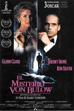 """El misterio Von Bulow """"Reversal of Fortune"""" de Barbet Schroeder - Glenn Close, 90s Movies, Good Movies, Actors, Movie Posters, Pictures, Mary, Truths, Movies"""