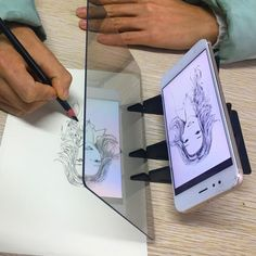 Buy Easy to Paint Sketch Assistant Painting Stand Optical Painting Board Portable Stereoscopic Copy Station Child Drawing Tools at Wish - Shopping Made Fun Drawing Skills, Drawing Board, Drawing Tools, Painting For Kids, Drawing For Kids, Projector Paint, Plasticine Clay, Paint Organization, Light Images
