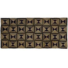 Light and Dark Diamonds geometric hooked rug | via 1stDibs. 1920s Maine.