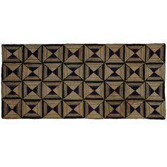 Light and Dark Diamonds geometric hooked rug | via 1stDibs. 1920s Maine.