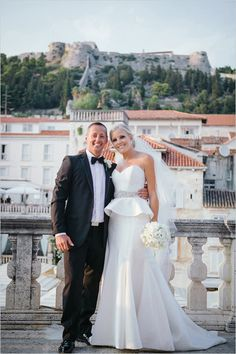Stunning bride and groom portraits at destination wedding in Croatia. Captured By: Raw Photography http://www.weddingchicks.com/2014/05/16/get-married-in-croatia/