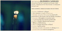 Blessed Candles #Catholic